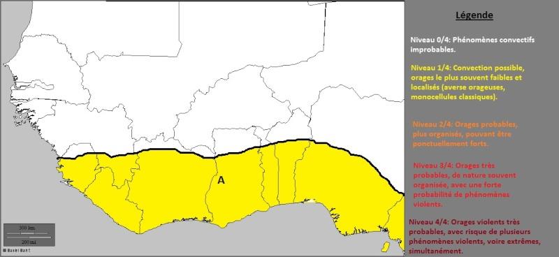 Carte de prévision convective quotidienne pour l'Afrique de l'Ouest 17_02_10