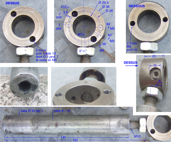 Moule-tube pour calepinage Poigne10