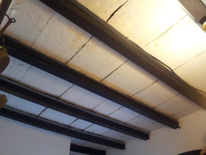 Coller du placo sur plafond bois 20120910