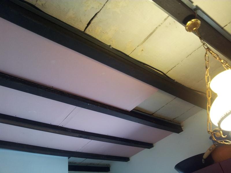 Coller du placo sur plafond bois 20120911