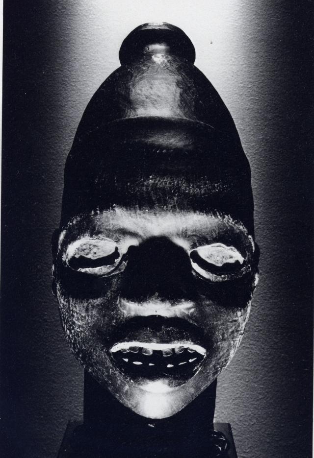 Ekoi/ Ejagham people, Ekpe society, Skin-covered wood mask headdress, Nigeria, Cross River Region Carrer10