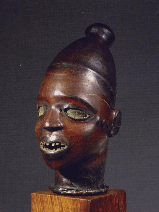 Ekoi/ Ejagham people, Ekpe society, Skin-covered wood mask headdress, Nigeria, Cross River Region Carrer13