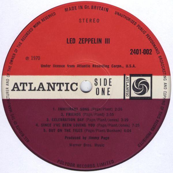 Led Zeppelin III R-132019