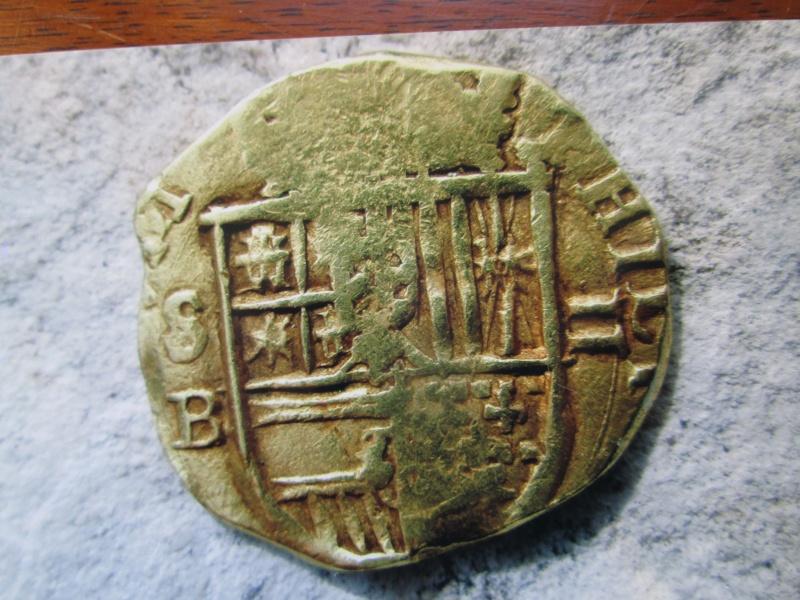 2 escudos pour Felippe II d'Espagne 1597 atelier Seville 00510