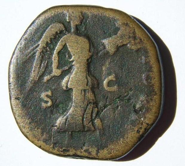 """Sesterce ANTONINUS PIUS """"Imperator II"""" Ar_0110"""