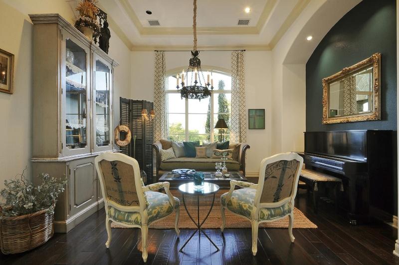 Salon avec cuisine americaine Miroir10