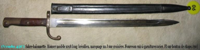Estimation baïonnettes  Mauser12