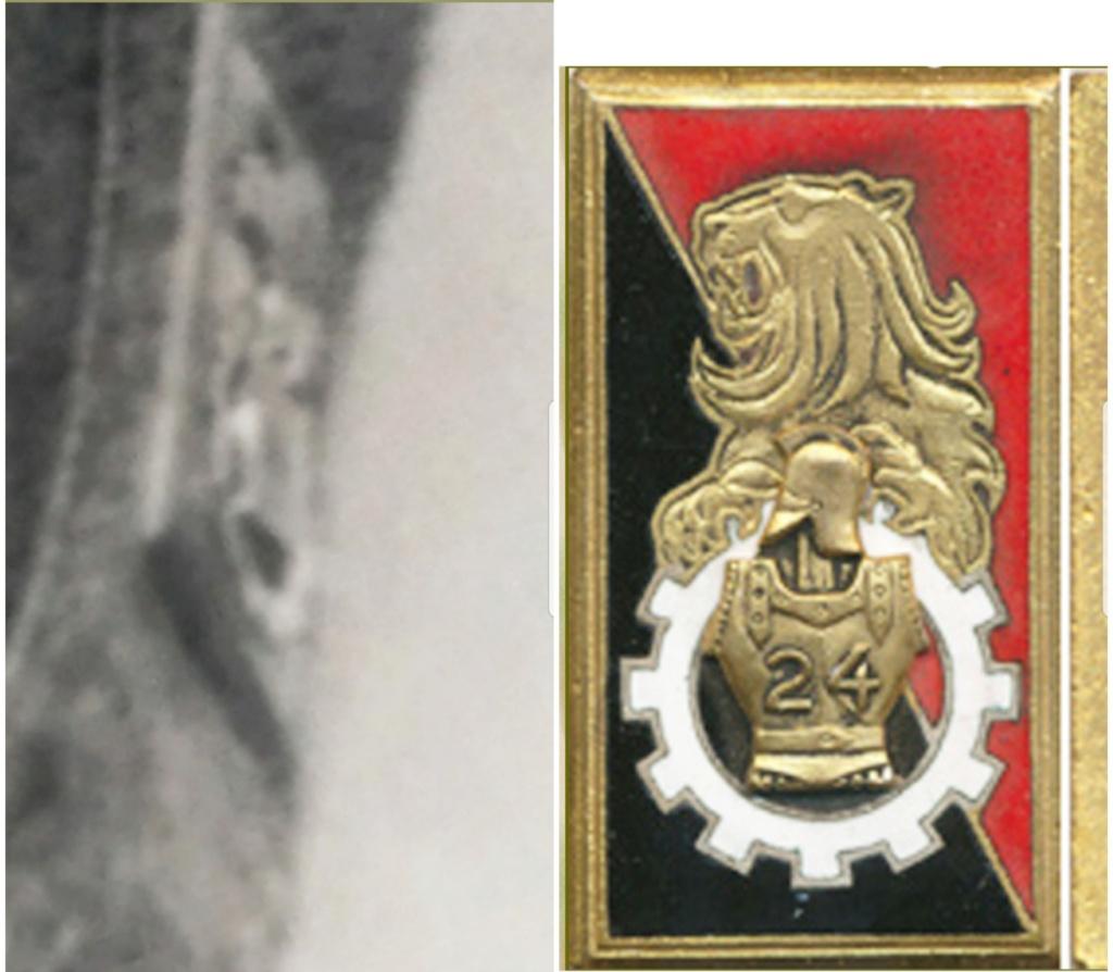 Identification insigne sur blouson modèle 1946 - France - 21ème BSM 20200832