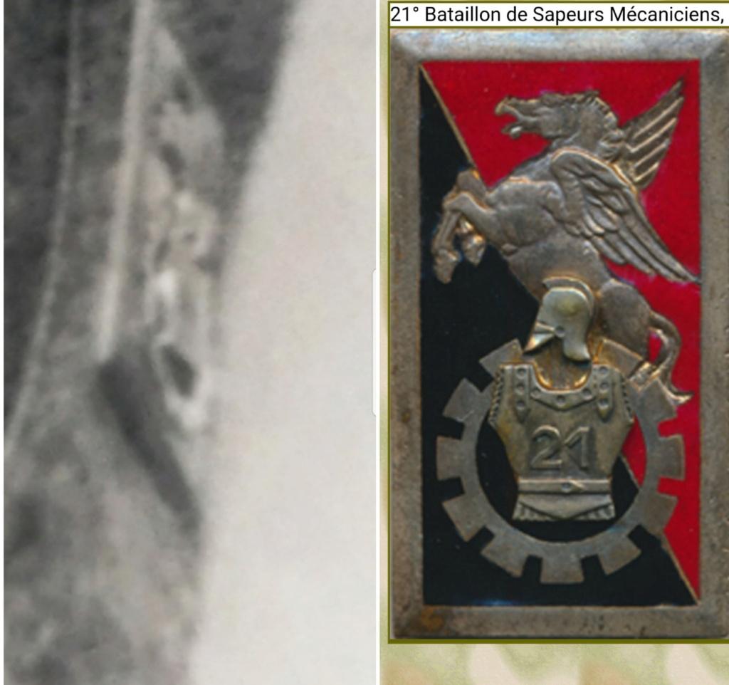 Identification insigne sur blouson modèle 1946 - France - 21ème BSM 20200833