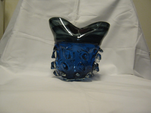 Bizarre Blue Glass Vase Glass_13