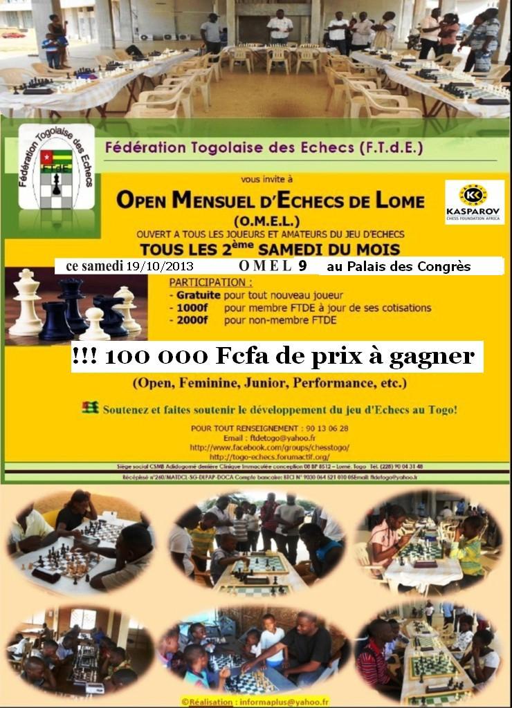 OMEL 9 (9ème Open Mensuel d'Echecs de Lomé) Affich10