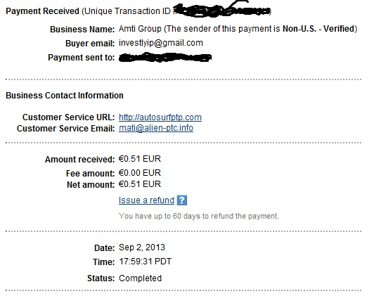 My payments Proof311