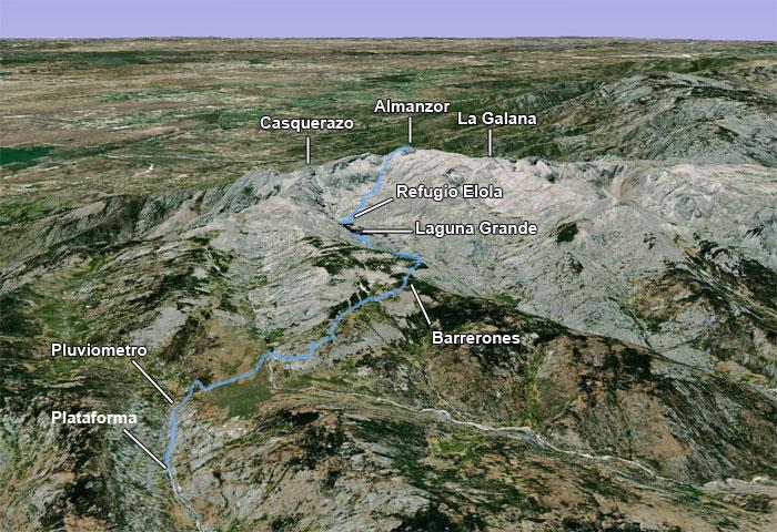 Montañismo: 26 y 27 de octubre 2013 - Ascensión al Almanzor - Página 2 Mapaal10