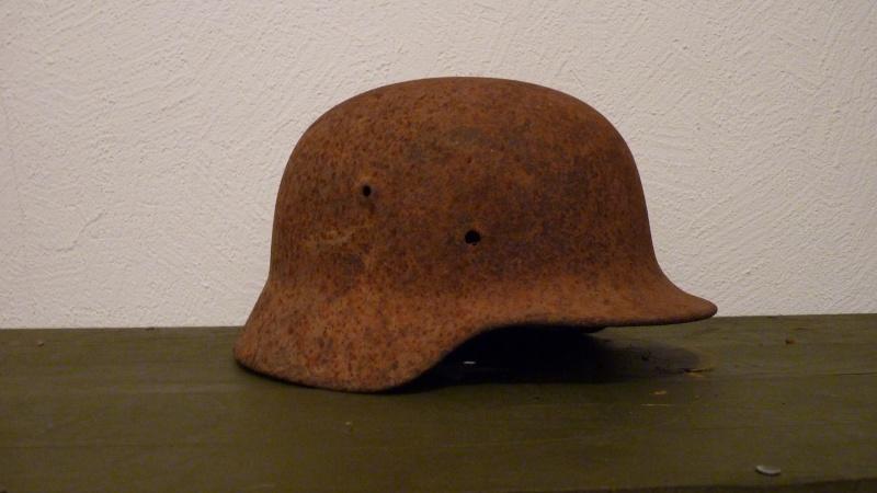 2 casques allemands de fouille P1080119