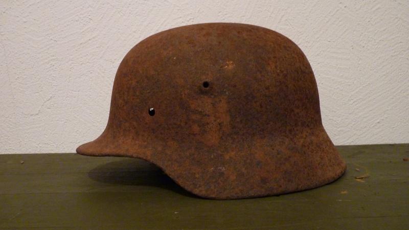 2 casques allemands de fouille P1080120