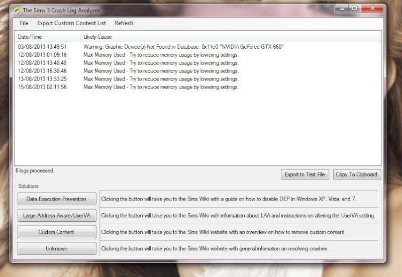 """[MP - 23/10] [Sims 3 / Bugs du Jeu]  """"Les sims 3 a cessé de fonctionner"""" Crash analyseur : RAM Sans_t10"""
