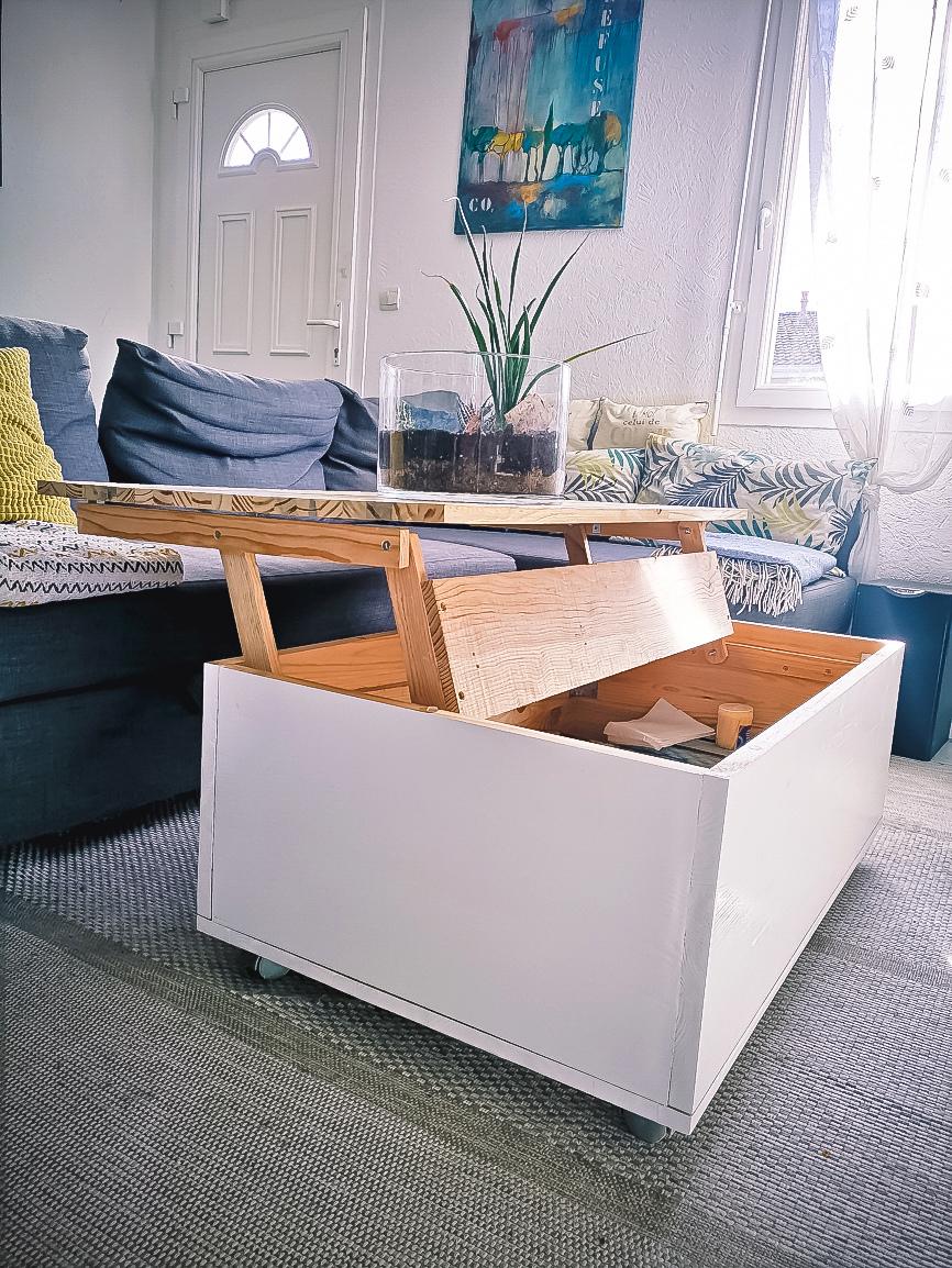 Table basse avec plateau relevable Tableb10