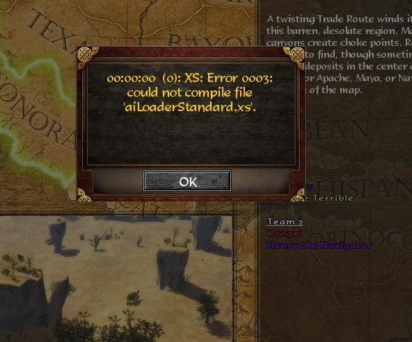 Age of Empires 3 error 0003: Could not compile file 'aiLoaderStandard.xs'  Screen18