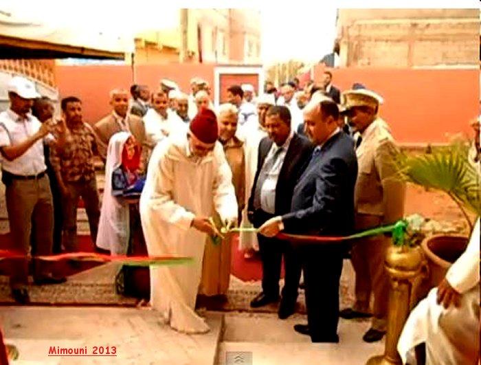 السيد العامل علي شتوكة أيت بها رفقة الحاج محمد بازي يدشنون المركز الاجتماعي لدوار تدارة Mimoun13