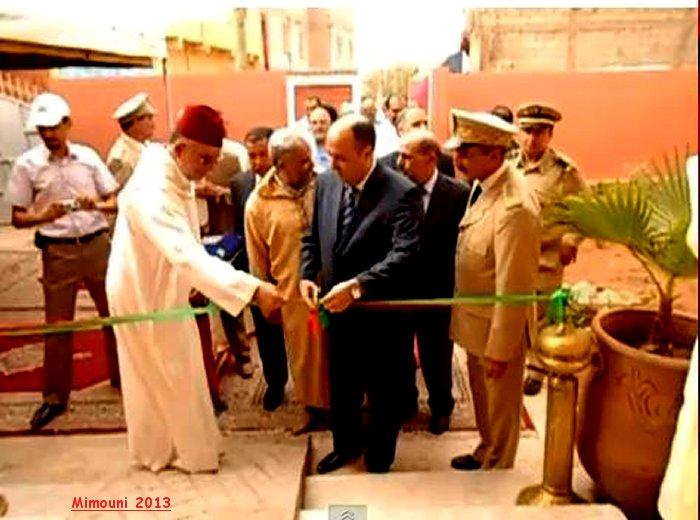 السيد العامل علي شتوكة أيت بها رفقة الحاج محمد بازي يدشنون المركز الاجتماعي لدوار تدارة Mimoun14