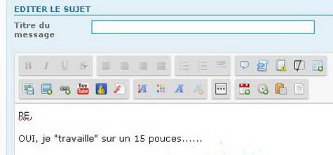 """Déplacement des boutons sur la page d'envoi d""""un message 310"""