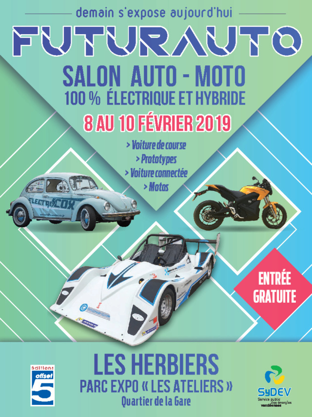 Salon habitat durable et mobilité électrique des Herbiers les 8, 9 et 10 février 2019 Affich12