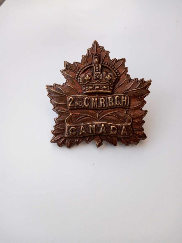 Première rentrée 2020 cap badge Canadien WW1 Img_2060