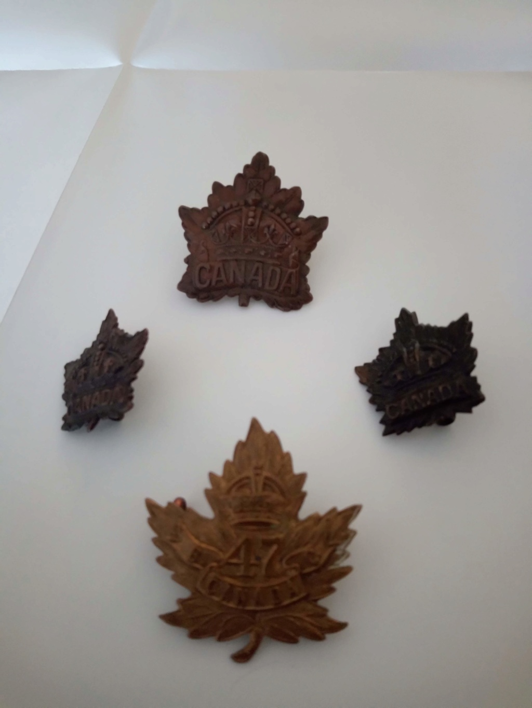 caps badges canadiens ww1 Img_2119
