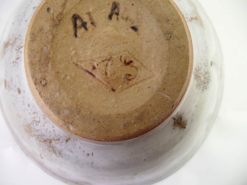 Nice Bowl, Unusual Incised Mark Along With Written Letters & Numbers Dscf2414