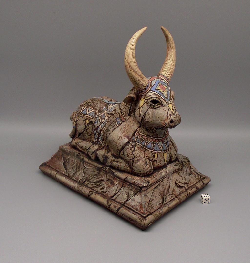 """Sacred Cow or Bull Sculpture """"KR"""" Mark Dscf2416"""