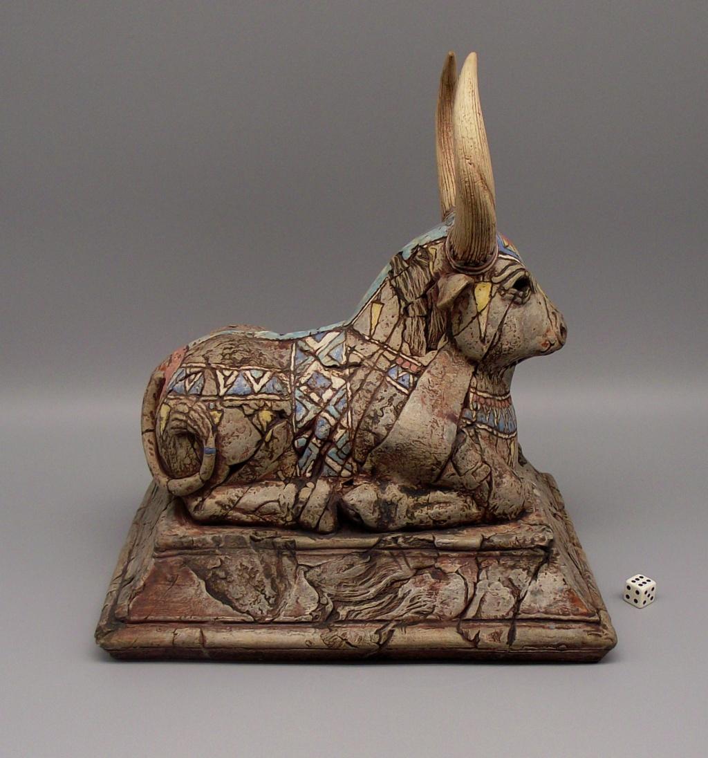 """Sacred Cow or Bull Sculpture """"KR"""" Mark Dscf2417"""