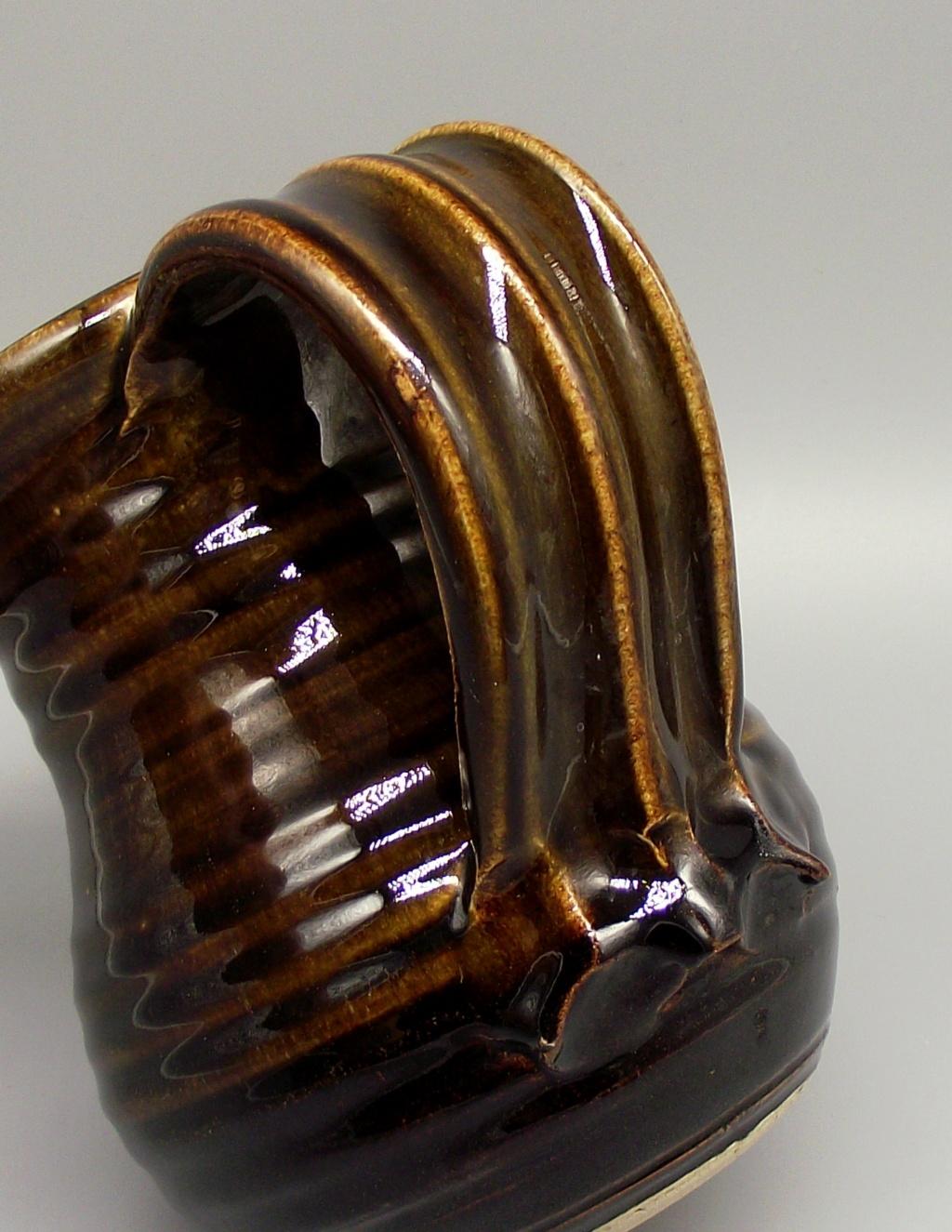 Stoneware Jug with Distictive Wide Strap Handle Dscf4012