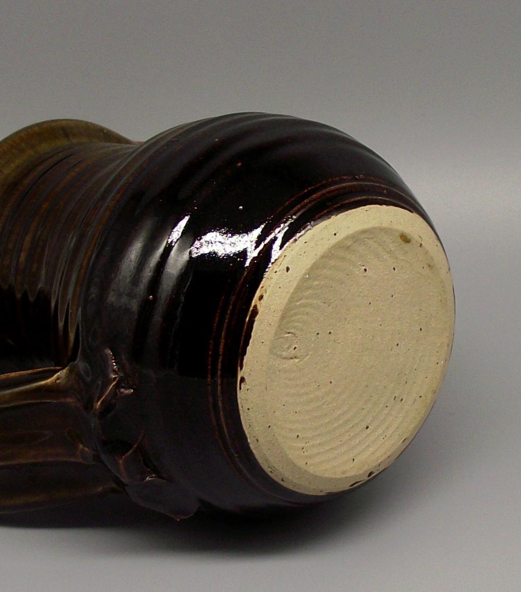 Stoneware Jug with Distictive Wide Strap Handle Dscf4013