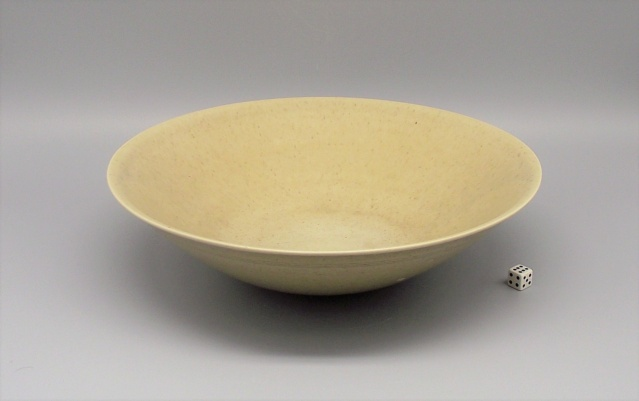 Finely Potted Earthenware Bowl with Celadon Glaze & Incised Signature Dscf9110