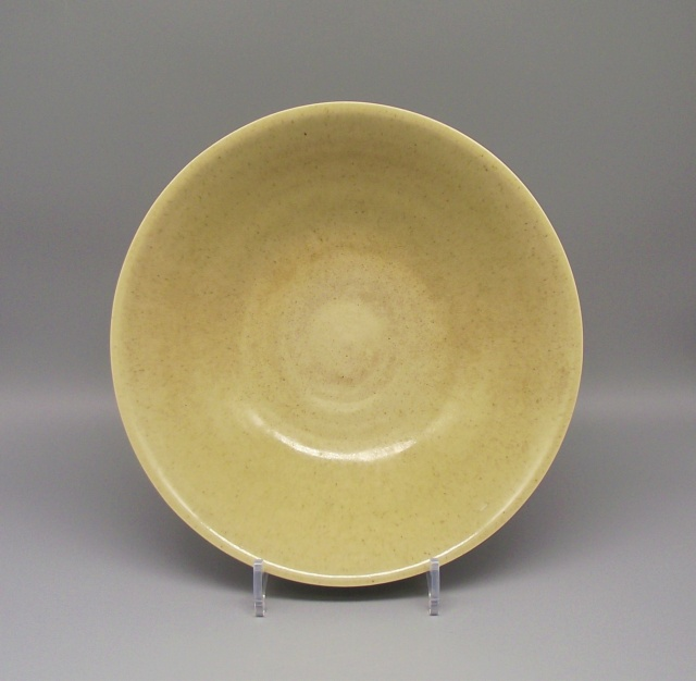 Finely Potted Earthenware Bowl with Celadon Glaze & Incised Signature Dscf9112