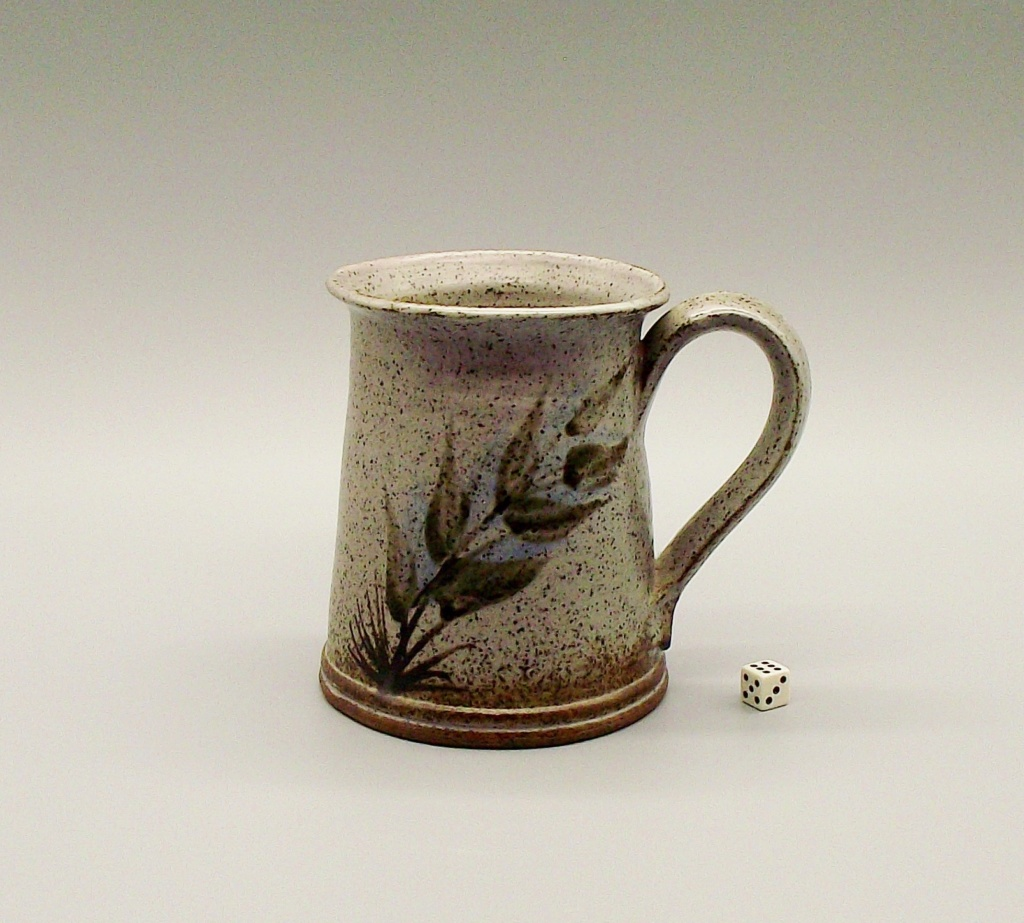 Stoneware Mug/Tankard With Flower Mark Similar To Vivika & Otto Heino Studio13