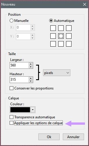 Outils > Préférences et Les valeurs par défaut ...Important !!!!! Opti10