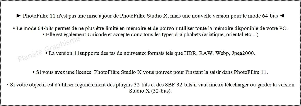 Version PhotoFiltre 11 ou Version PhotoFiltre Studio 10.4.1.  Que choisir ? Photof10