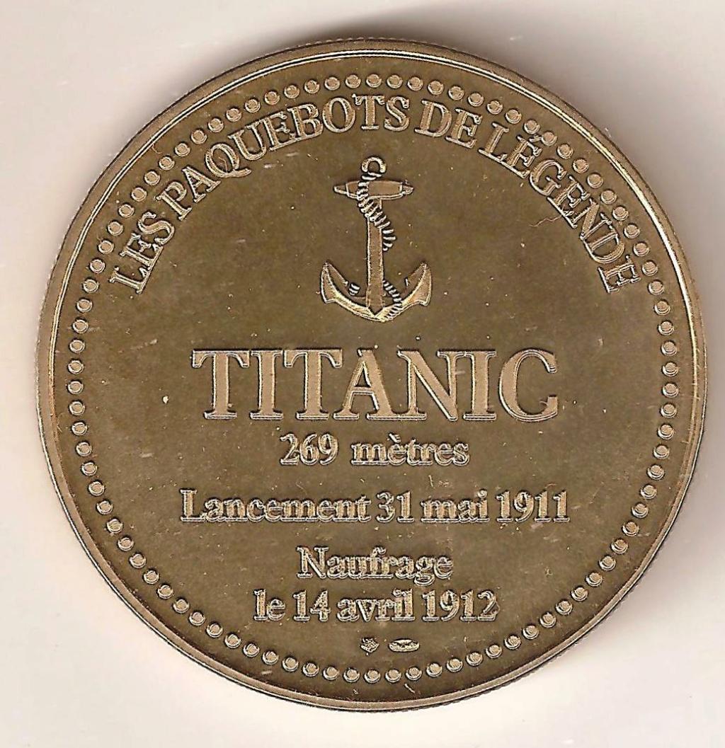 besoin d'aide pour cette médaille ou jeton Titanic - Merci 00115
