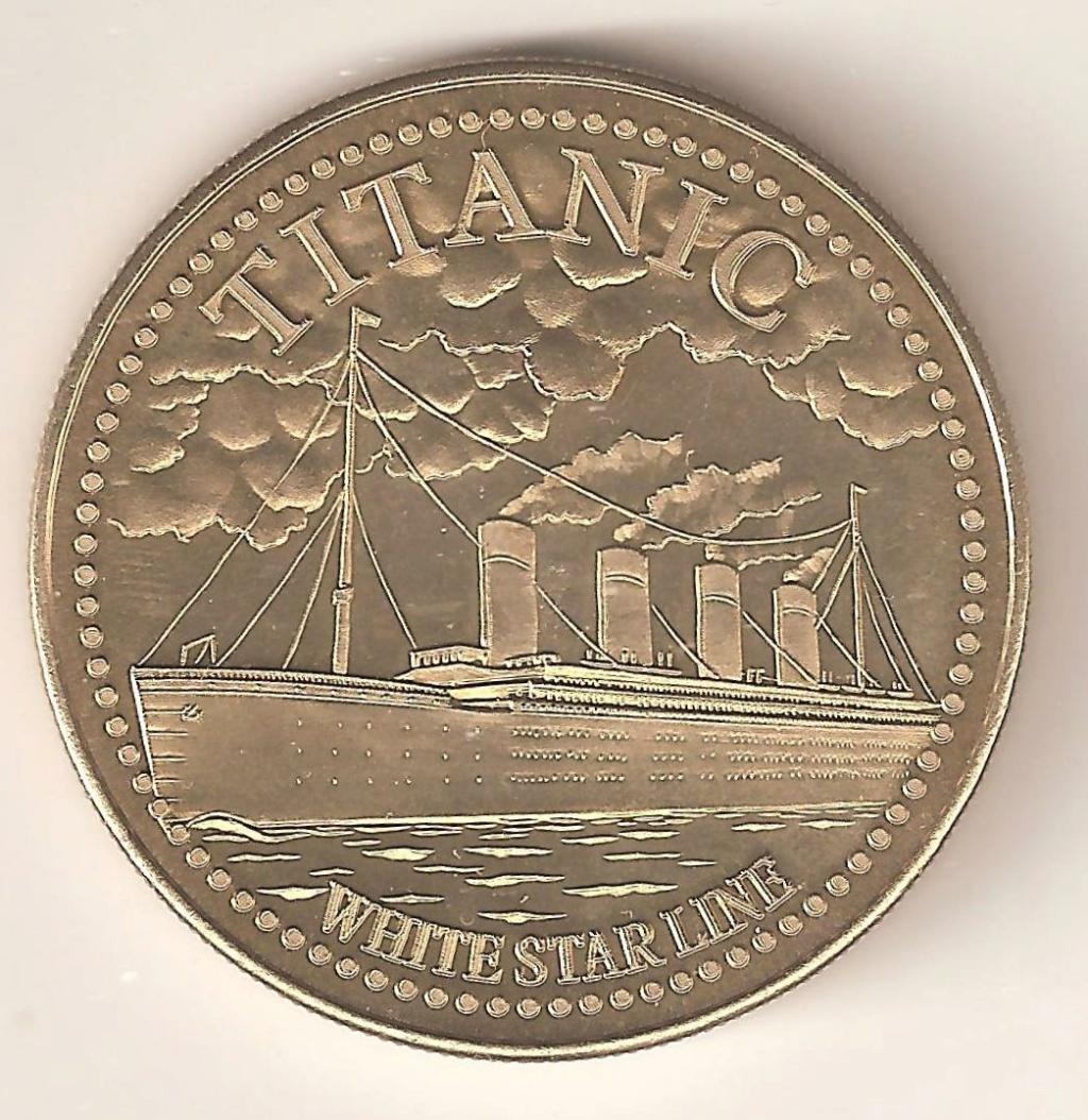 besoin d'aide pour cette médaille ou jeton Titanic - Merci 00212