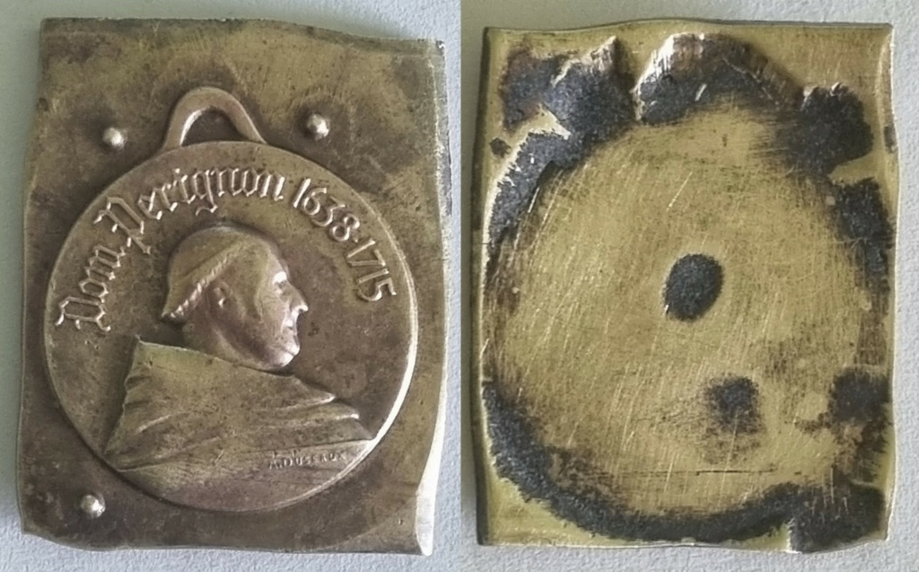 """Besoin d'aide pour identification """" médaille ou matrice dom pérignon """" 20210320"""