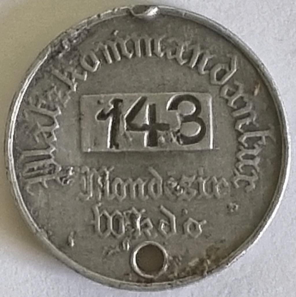 Besoin de vos connaissances pour ce jeton Platzkommandantur Mondésir 20210410