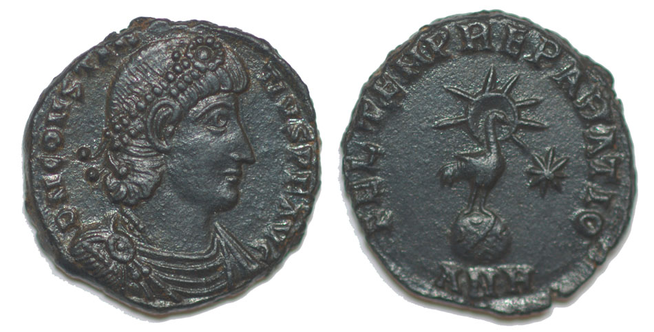 Demi-maiorina de Constance II, Antioche ... Consta10