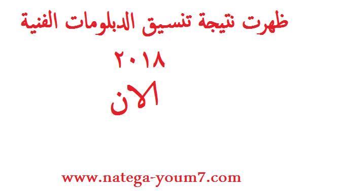 ظهرت نتيجة تنسيق الدبلومات الفنية 2018 علي بوابة الحكومة المصرية 1110