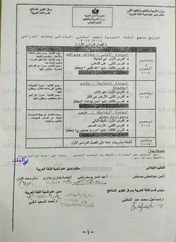 توزيع منهج اللغة العربية 2021 الصف الثاني الابتدائي للترمين Oio_aa10