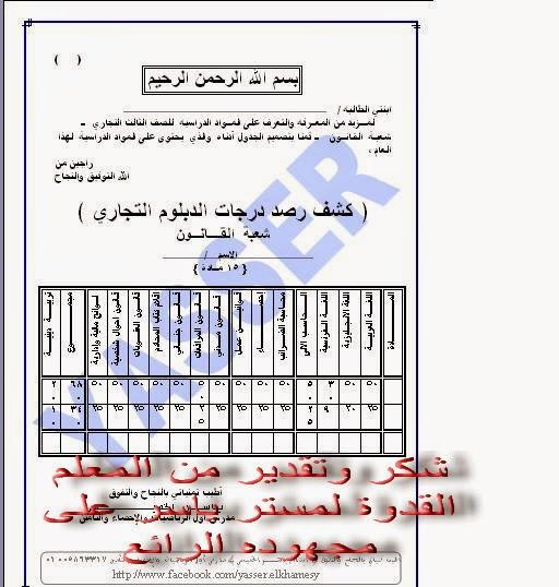 توزيع درجات الدبلوم التجاري 2021 - درجة النجاح فى الدبلومات الفنية 2021 Oo_aai10