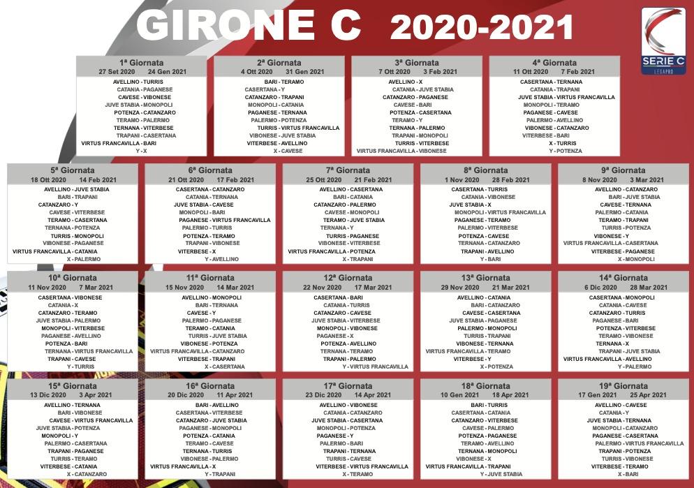 CALENDARIO 2020-2021 Girone10