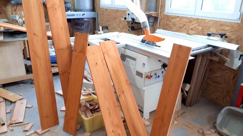 Construction d'un atelier en ossature bois ! - Le Bardage ! - Page 12 1110