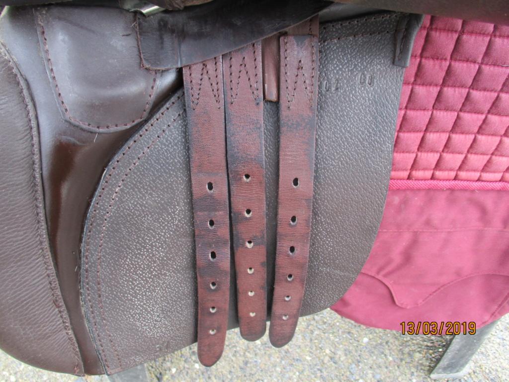 Selle mixte cuir beltack top état Img_2314
