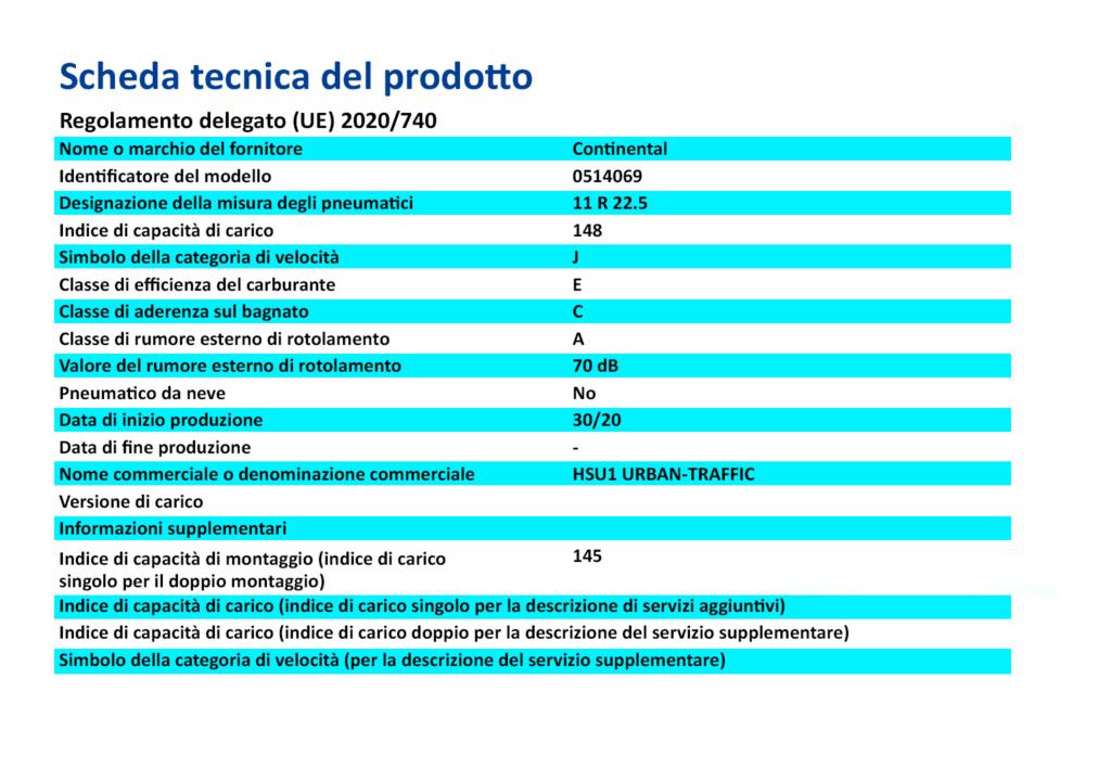 Nuova etichettatura pneumatici - Maggio 2021 Info10